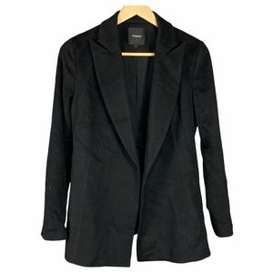 Theory Cashmere Wool Open Front Blazer Jacket